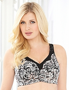 Lace Illusion No-Wire Cotton Comfort Bra