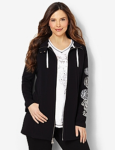 Flourish Zip Jacket by CATHERINES