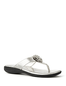Daisy Metallic Thong Sandal by CATHERINES