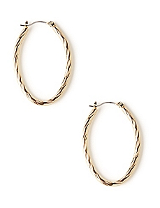 Twisted Oval Earrings