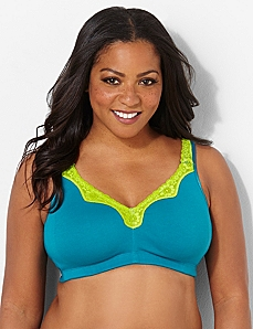 Colorblock No-Wire Comfort Bra