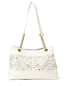 Eyelet Sequin Handbag by CATHERINES