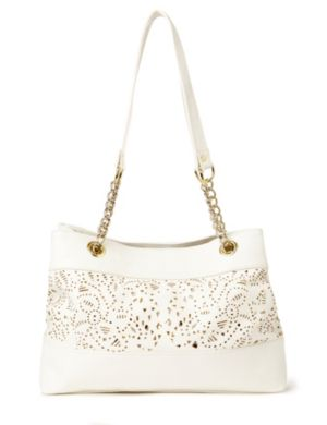 Eyelet Sequin Handbag
