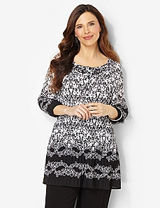 Damask Pleated Tunic