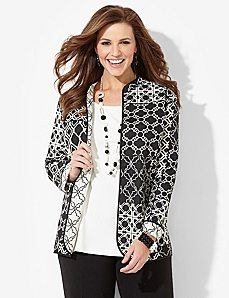 Modern Geo Reversible Jacket by CATHERINES