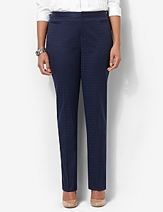 Jacquard Ankle Pant by CATHERINES