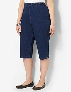 Everyday Fit Rhinestone Denim Capri