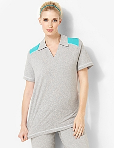 Colorblock Polo by CATHERINES