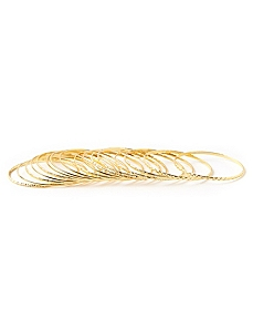 Metallic Bangle Bracelets