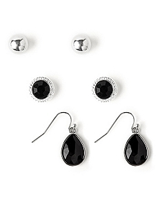Refined 3-Pair Earring Set