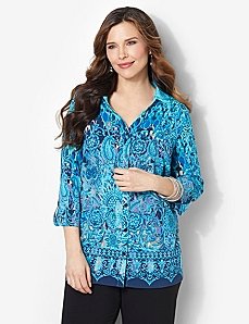 Beauty Bliss Blouse by CATHERINES