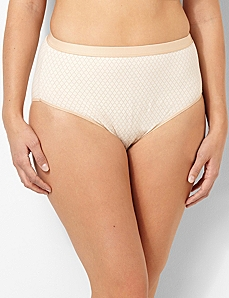 Geometric Cotton Hi-Cut Brief by CATHERINES