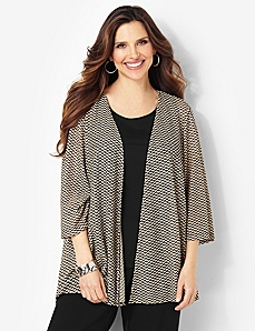 Zig-Zag Print Cardigan by CATHERINES