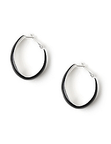 Enamel Hoop Earrings by CATHERINES