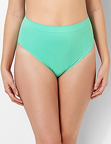 Solid Seamless Hi-Cut Brief by CATHERINES