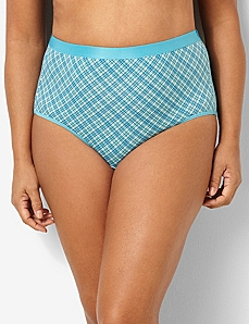 Bright Plaid Cotton Full Brief