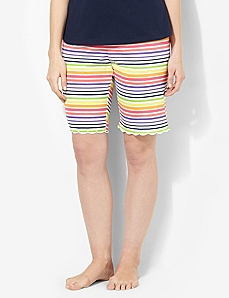 Striped Bright Side Sleep Short