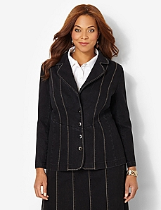 Slim Seam Jacket by CATHERINES