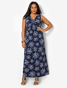 Tie-Dye Bloom Maxi by CATHERINES