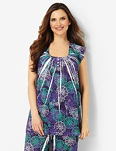 Medallion Print Sleep Top