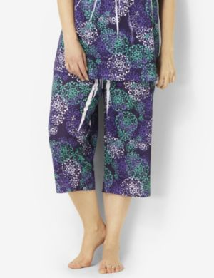 Medallion Print Sleep Capri