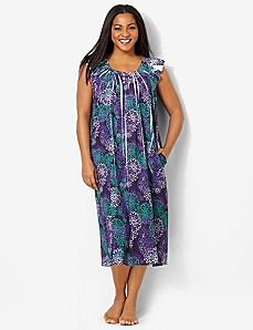 Medallion Print Sleep Gown