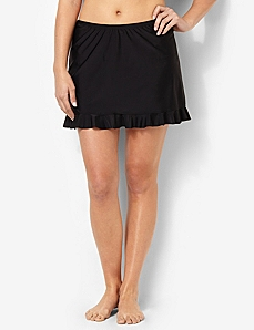 Ruffle Swim Skirt by CATHERINES