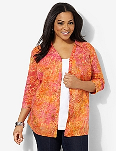 Bright Blend Shirt by CATHERINES