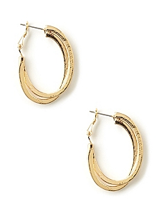 Oval Overlap Earrings
