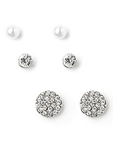 Post 3-Pair Earring Set