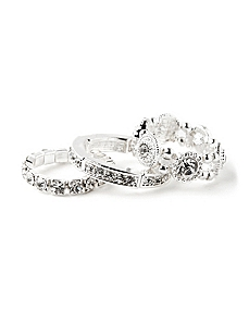 Sparkle 3-Piece Ring Set
