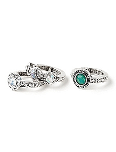 Sparkle & Stone 3-Piece Ring Set