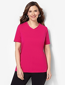 Suprema Satin Trim V-Neck