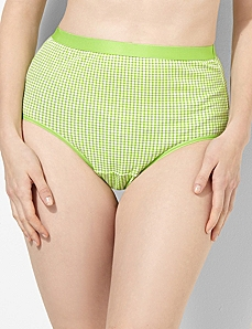 Gingham Cotton Full Brief by CATHERINES