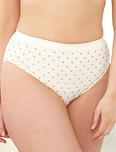 Dotted Seamless Hi-Cut Brief by CATHERINES