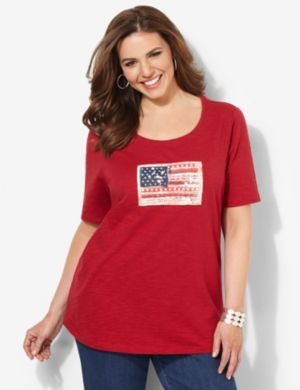 American Patchwork Tee