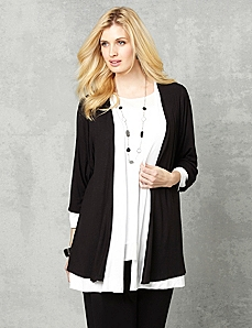 AnyWear Layered Cardigan