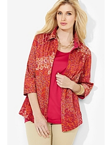 Printed Sateen Shirt