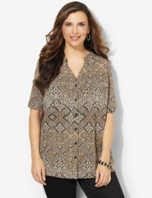 Decorative Diamond Blouse