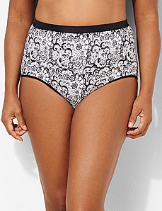 Lace Illusion Cotton Full Brief