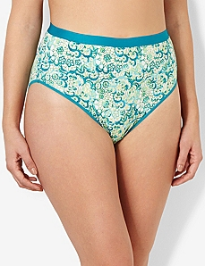 Wildflower Cotton Hi-Cut Brief
