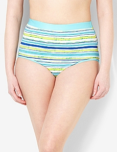 Stripe Splash Cotton Full Brief