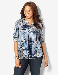 Patchwork Blouse by CATHERINES