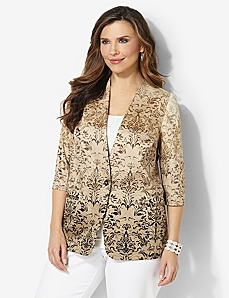 Sateen Damask Blazer