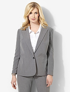 Heathered Bi-Stretch Blazer