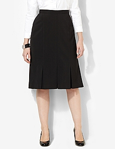 Pindot Pleat Skirt