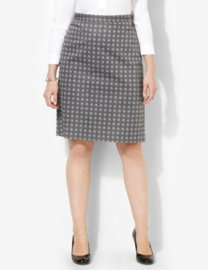 Geo Sateen Skirt