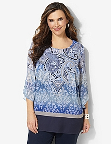 Paisley Allure Tunic by CATHERINES