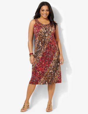 Lattice Splash Dress