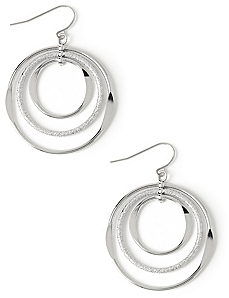 Glittering Hoop Earrings